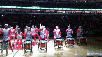 The sports drumline years. Bulls...